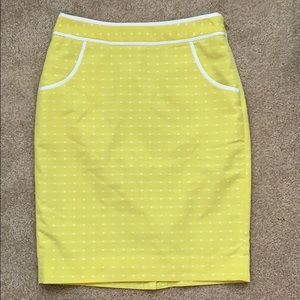 Yellow/Lime Limited dot pattern skirt w/ pockets!
